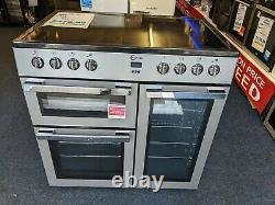 FLAVEL 90cm Electric Range Cooker 5 Zone Ceramic Hob and Grill MLN9CRS Silver
