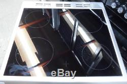 Flavel ML61CDS Milano Silver Electric Cooker Twin Cavity Ceramic Hobs 60cm PEC