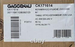 GAGGENAU 27 ELECTRIC COOKTOP #CK171614 FOR HOMES, see pics