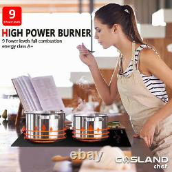 GASLAND CH30BF 30cm Black Touch Control 2 Zone Electric Ceramic Hob 3kW Built in