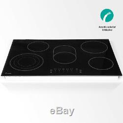 Glas-Ceramic Hob 77cm three times cooking zone Timer child-proof lock frameless