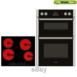 Gorenje Oven & Cookology Hob Pack, Built-in Tall Double Oven & 60cm Ceramic Hob