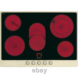 Graded Smeg P775PO 72cm'Cortina' Cream & Bass Ceramic Hob (JUB-27183) RRP £699