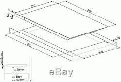 Graded Smeg SE395ETB 90cm Touch Control Ceramic Hob (JUB-22570) RRP £629