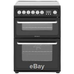 HOTPOINT HARE60K HARE60P 60cm ELECTRIC COOKER WITH DOUBLE OVEN & CERAMIC HOB NEW