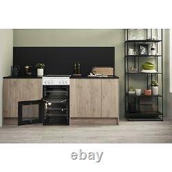 HOTPOINT HD5V92KCW 50cm Double Cavity Electric Cooker With Ceramic Hob White