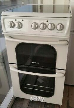 Hotpoint 50cm electric cooker fan oven plus grill, Ceramic hob