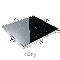Hotpoint Ceramic Hob Black with central electronic touch controls