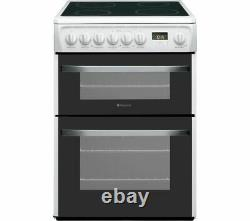Hotpoint DSC60P. 1 60cm Electric Cooker Double Oven, Grill & Ceramic Hob