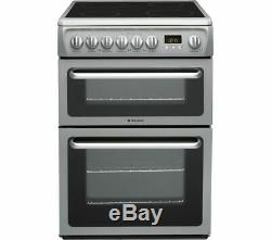 Hotpoint DSC60S S. 1 60cm Electric Cooker Double Ovens, Grill & Ceramic Hob