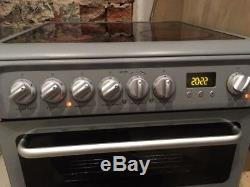 Hotpoint Electric Freestanding Double Oven Cooker with Ceramic Hob DSC60S 60cm