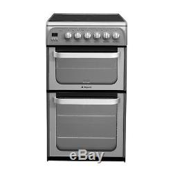 Hotpoint Freestanding HUE52GS 50cm Electric Double Oven & Hob Graphite