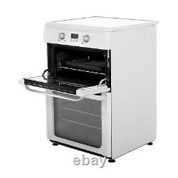 Hotpoint Freestanding HUI612P 60cm Electric Cooker & Induction Hob White