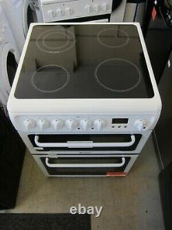 Hotpoint HAE60P 60cm Double Oven Electric Cooker With Ceramic Hob White (5331)