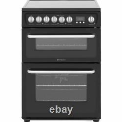 Hotpoint HARE60K 60cm Electric Cooker with Ceramic Hob Black B/B Rated