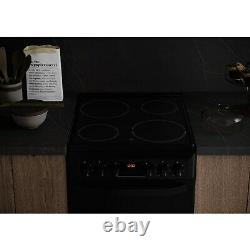 Hotpoint HD5V93CCB 50cm Double Oven Electric Cooker with Ceramic Hob Black
