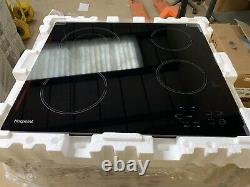 Hotpoint HR 619 C H 58cm Four Zone Ceramic Hob with Side Controls Black