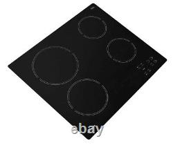 Hotpoint HR612CH Black 60cm 4 Zone Ceramic Hob