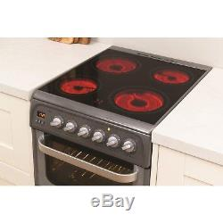 Hotpoint HUE52GS 50cm Wide Double Oven Electric Cooker With Ceramic Hob HUE52GS