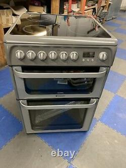Hotpoint HUE61GS Ultima Free Standing A/A Electric Cooker with Ceramic Hob 60cm