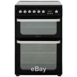 Hotpoint HUE61KS Ultima Free Standing A/A Electric Cooker with Ceramic Hob 60cm