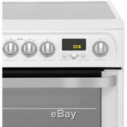 Hotpoint HUE62PS Ultima Free Standing A Electric Cooker with Ceramic Hob 60cm