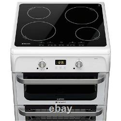 Hotpoint HUI612P Ultima 60cm Double Oven Electric Cooker with Induction Hob Wh