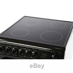 Hotpoint Newstyle HAE60KS 60cm Double Oven Electric Cooker Ceramic Hob Black