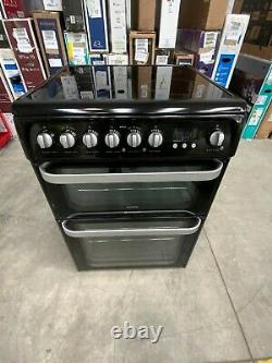 Hotpoint Ultima HUE61KS Electric Cooker with Ceramic Hob Black A/A #LF25377