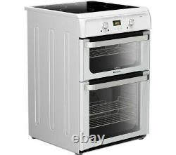 Hotpoint Ultima HUI612P 60cm Electric Cooker with Double Ovens & INDUCTION HOB