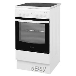 INDESIT IS5V4KHW 50cm Single Oven Electric Cooker With Ceramic Hob Wh IS5V4KHW