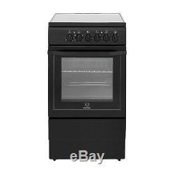 Indesit I5VSHK 50cm Single Oven Cooker With Ceramic Hob Black I5VSHK
