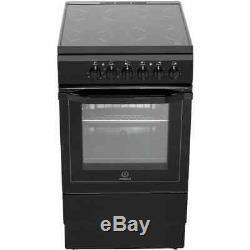 Indesit I5VSHK Free Standing Electric Cooker with Ceramic Hob 50cm Black New
