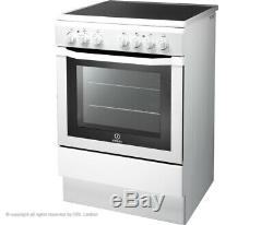 Indesit I6VV2AW Free Standing A Electric Cooker with Ceramic Hob 60cm White New