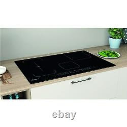 Indesit IB21B77NE 77cm Touch Control Four Zone Induction Hob With Dualzone