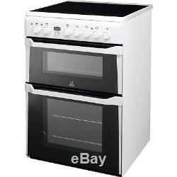 Indesit ID60C2WS 60cm Double Oven Electric Cooker With Ceramic Hob Wh ID60C2WS