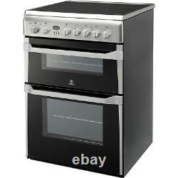 Indesit ID60C2X 60cm Double Oven Electric Cooker with Ceramic Hob Stainless St