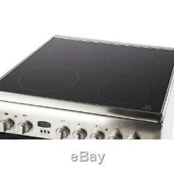 Indesit ID60C2XS 60cm Electric Cooker with Double Ovens & Ceramic Hob St/St