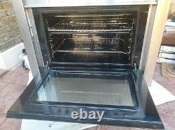 Indesit KP9508CXG 90cm Freestanding Electric Range Cooker with Ceramic Hob