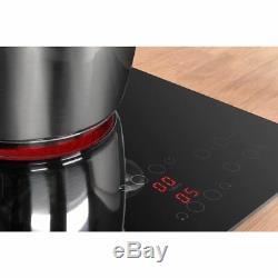 Indesit RI261X 58cm 4 Burners Ceramic Hob Touch Control Black