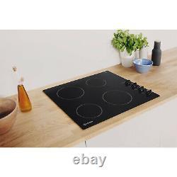 Indesit RI860C 4 Zone Ceramic Hob Black