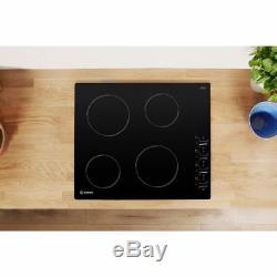 Indesit RI860C 58cm 4 Burners Ceramic Hob Black