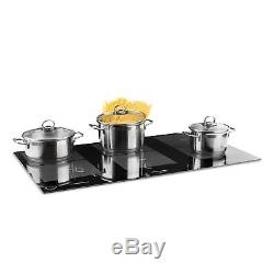 Induction Hob 6 Zones 10800W Electric Ceramic Hot Plate Cooker Built-in Black