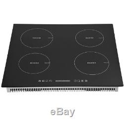 Induction Hob Cooker 4 Zones Touch Control 13 AMP Plug Fitted Eco Boost 8000W