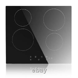 IsEasy 59cm Electric Ceramic Hob, 4 Zone, Built-in, Touch Control, Child Lock, Timer