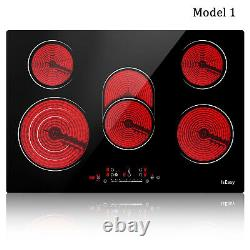 IsEasy Electric Ceramic/Induction Hob, Built-in Frameless Touch Child Lock Timer