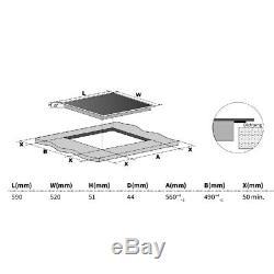 KKT KOLBE autark Cooktop 59 cm Glass ceramic frame Slider Touch