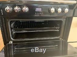 Leisure 60cm Black Electric Ceramic Hob Double oven Gourmet Cooker GRB6CVK