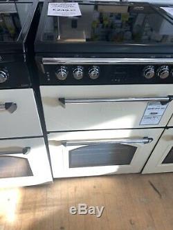 Leisure 60cm Cream Electric Ceramic Hob Double oven Gourmet Cooker GRB6CVC