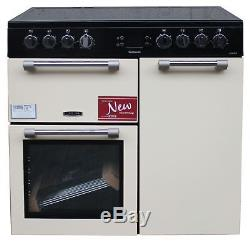 Leisure 90cm Electric Range Cooker CK90C230C Ceramic Hob 2 Ovens Cream #1943